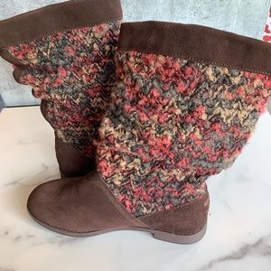 Toms Shoes - TOMS Serra brown suede slouch boots 7.5